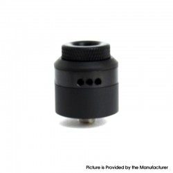 Coilturd Style RDA Rebuildable Dripping Vape Atomizer w/ BF Pin / AFC Ring - Black, Single / Dual Coil Configuration, 24mm Dia
