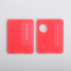 Replacement Front + Back Door Panel Plates for Dotaio Mini Vape Pod System Kit - Frost Red (2 PCS)