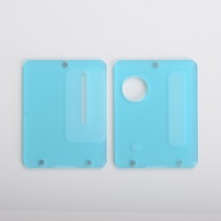 Replacement Front + Back Door Panel Plates for Dotaio Mini Vape Pod System Kit - Frost Blue (2 PCS)