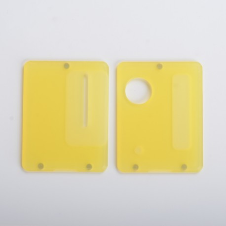 Replacement Front + Back Door Panel Plates for Dotaio Mini Vape Pod System Kit - Frost Yellow (2 PCS)