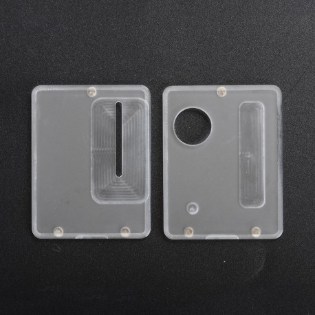 Replacement Front + Back Door Panel Plates for Dotaio Mini Vape Pod System Kit - Frost Clear (2 PCS)