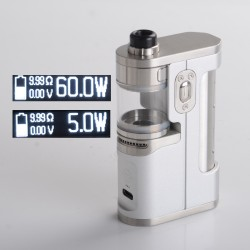 Authentic Dovpo X Suicide Mods Abyss 60W VW SBS AIO Mod Kit - Classic, 5~60W, 1 x 18650 / 21700, Dovpo Chipset