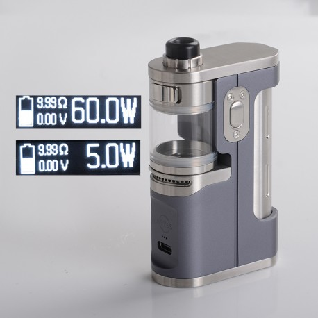 Authentic Dovpo X Suicide Mods Abyss 60W VW SBS AIO Mod Kit - Storm, 5~60W, 1 x 18650 / 21700, Dovpo Chipset