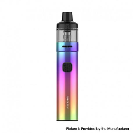 Authentic Vaporesso GTX GO 40 Pod System Pen Vape Starter Kit - Rainbow, 5~40W, 1500mAh, 3.5ml GTX Pod 22, 0.6ohm