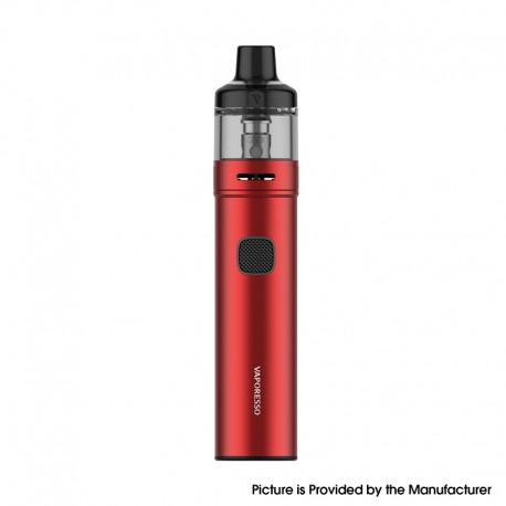 Authentic Vaporesso GTX GO 40 Pod System Pen Vape Starter Kit - Red, 5~40W, 1500mAh, 3.5ml GTX Pod 22, 0.6ohm