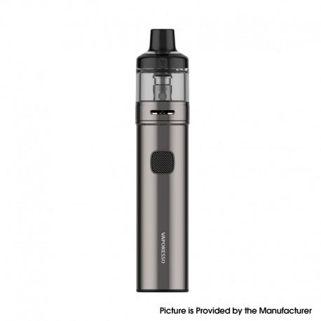 Authentic Vaporesso GTX GO 40 Pod System Pen Vape Starter Kit - Matte Grey, 5~40W, 1500mAh, 3.5ml GTX Pod 22, 0.6ohm