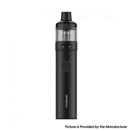 Authentic Vaporesso GTX GO 40 Pod System Pen Vape Starter Kit - Black, 5~40W, 1500mAh, 3.5ml GTX Pod 22, 0.6ohm