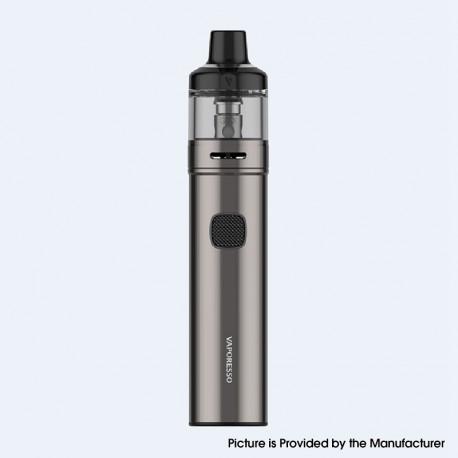 Authentic Vaporesso GTX GO 80 Pod System Pen Vape Starter Kit - Matte Grey, 5~80W, 3000mAh, 5.0ml GTX Pod 26, 0.2ohm