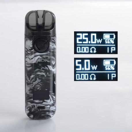 Authentic SMOKTech SMOK NOVO 4 25W Pod System Vape Starter Kit - Fluid Black Grey, 5~25W, 800mAh, 2.0ml Pod Cartridge, 0.8ohm