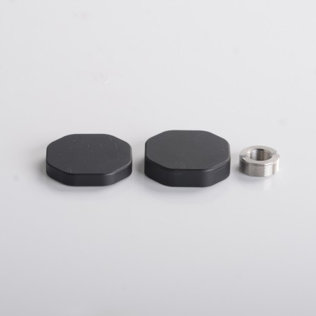 Authentic Dovpo x Suicide Mods Abyss AIO Kit Replacement Side-By-Side Kit - Black, 1 x 18650 Cap, 1 x21700 Cap, 1 x510 Connector