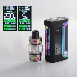 Authentic SMOKTech Arcfox 230W TC VW Mod + TFV18 Sub Ohm Tank Kit - Prism Rainbow, 5~230W, 2 x 18650, 7.5ml, 0.33ohm/0.15ohm