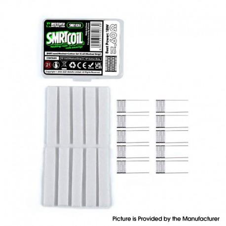 Authentic Wotofo SMRT Pod Kit / Pod Cartridge Replacement SMRT Nord Meshed-Cotton Set - 10 x0.6ohm Mesh Strip, 10 xCotton Strip
