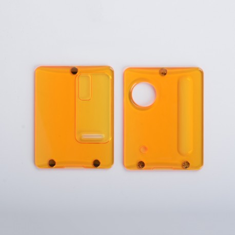Authentic ETU Replacement Front + Back Cover Panel Plate for Dotaio Mini Vape Pod System Kit - Translucent Yellow, PC