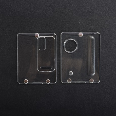 Authentic ETU Replacement Front + Back Cover Panel Plate for Dotaio Mini Vape Pod System Kit - Transparent, PC