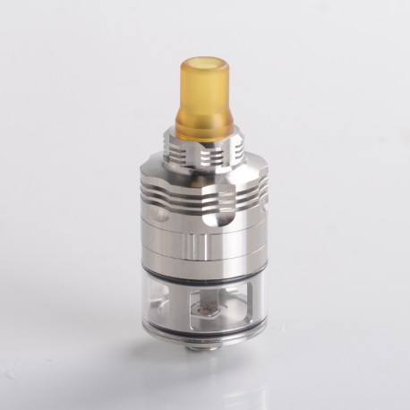 Four One Five 415 S61 Genesis Atomizer Style RDTA Rebuildable Dripping Tank Atomizer - Silver, Stainless Steel + Glass, 22mm