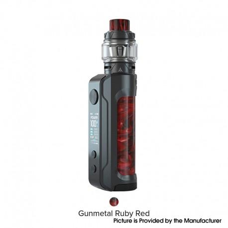 Authentic OBS Engine 100W VW Mod + Engine S Tank Vape Mod Kit - Gunmetal Ruby Red, 5~100W, 1 x 18650 / 20700 /21700, 6ml, 25.5mm