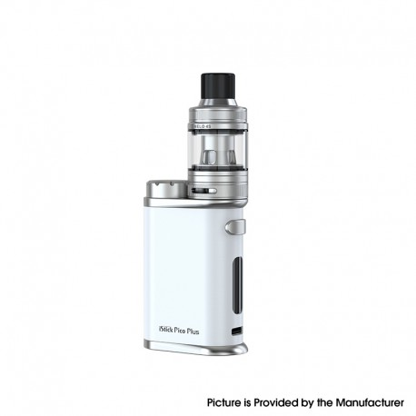 Authentic Eleaf iStick Pico Plus Vape Kit 75W Box Mod + Melo 4S Sub Ohm Tank - Pearl White, 1~75W, 1 x 18650, 4ml, 25mm Diameter