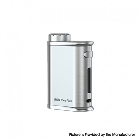 Authentic Eleaf iStick Pico Plus 75W VW Variable Wattage Vape Box Mod - Silver, 1~75W, TC 100~315'C, 1 x 18650