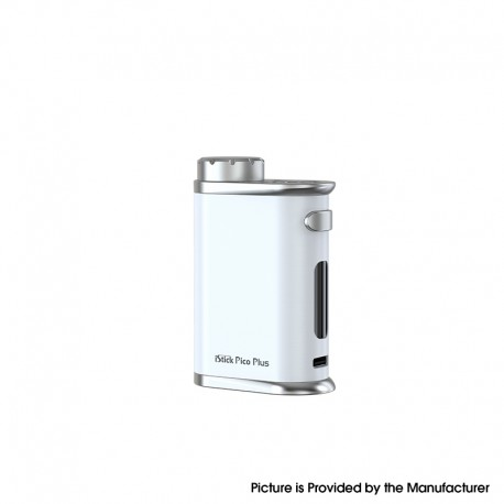 Authentic Eleaf iStick Pico Plus 75W VW Variable Wattage Vape Box Mod - Pearl White, 1~75W, TC 100~315'C, 1 x 18650