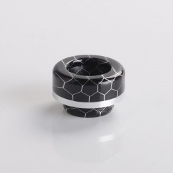 Authentic ThunderHead Creations THC Tauren MAX RDA Replacement 810 Drip Tip - Silver Ring (1 PC)
