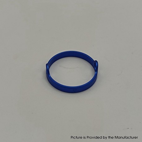 Authentic Auguse Era Pro RTA Replacement Decorative Ring - Blue, Anodized Aluminum, 22mm Diameter (1 PC)