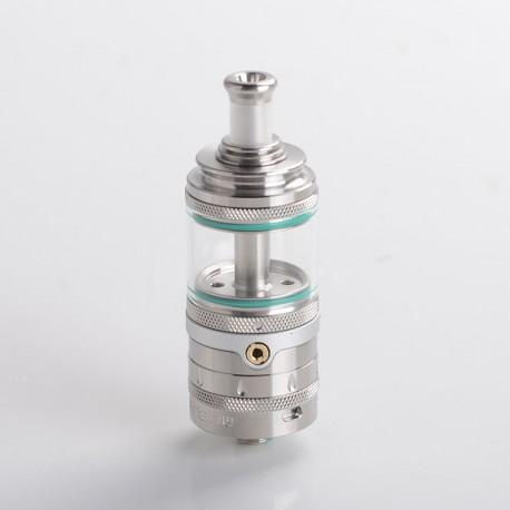 Authentic Auguse Era Pro RTA Rebuildable Tank Vape Atomizer w/ Air Pin - Silver, 4.0ml, 0.8 / 1.0 / 1.2mm, 22mm Diameter
