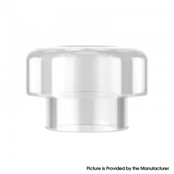 Authentic Reewape RS332 810 Drip Tip for RBA / RTA / RDA Atomizer - White, Acrylic (1 PC)