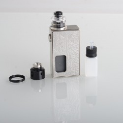 Authentic Vandy Vape Requiem BF Mechanical Vape Box Mod Kit - Craftsman (Silver), 1 x 18650, 6.0ml, 2.6ohm