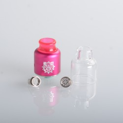 Authentic Damn Vape Mongrel RDA Rebuildable Dripping Vape Atomizer - Pink, 25.4mm / 26mm, with Spare Top Cap, Subway Edition