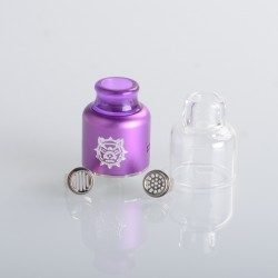 Authentic Damn Vape Mongrel RDA Rebuildable Dripping Vape Atomizer - Purple, 25.4mm / 26mm, with Spare Top Cap, Subway Edition