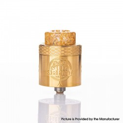 Authentic Wotofo SRPNT RDA Rebuildable Dripping Vape Atomizer w/ Squonk Pin - Gold, 24mm Diameter