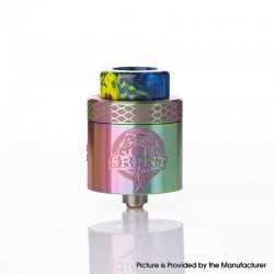 Authentic Wotofo SRPNT RDA Rebuildable Dripping Vape Atomizer w/ Squonk Pin - Rainbow, 24mm Diameter