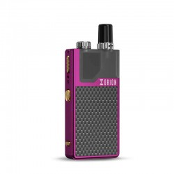 Authentic Lost Vape Orion DNA GO 40W 950mAh All-in-one Starter Kit - Purple Textured Carbon Fiber, 2ml, 0.25 Ohm / 0.5 Ohm