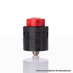 Authentic Wotofo SRPNT RDA Rebuildable Dripping Vape Atomizer w/ Squonk Pin - Black, 24mm Diameter