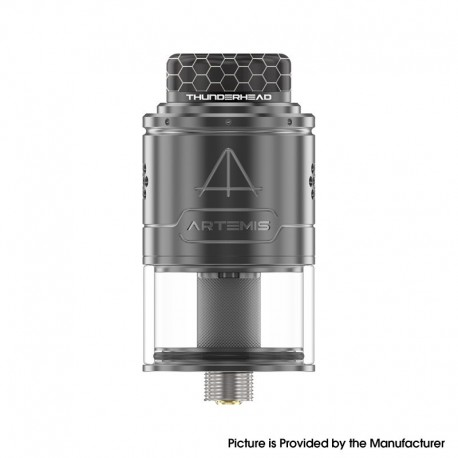 Authentic ThunderHead Creations THC Artemis V1.5 RDTA Rebuildable Dripping Tank Atomizer - Gun Metal, 2.0/4.0ml, 24mm, BF Pin