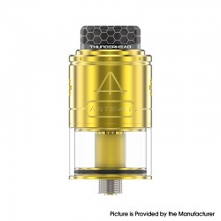 Authentic ThunderHead Creations THC Artemis V1.5 RDTA Rebuildable Dripping Tank Vape Atomizer - Gold, 2.0/4.0ml, 24mm, BF Pin