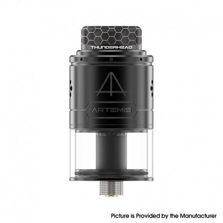 Authentic ThunderHead Creations THC Artemis V1.5 RDTA Rebuildable Dripping Tank Vape Atomizer - Black, 2.0/4.0ml, 24mm, BF Pin