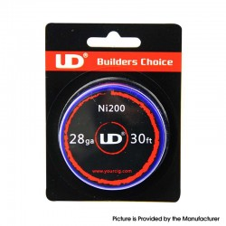 Authentic YouDe UD Ni200 Resistance Wire for RBA / RTA / RDA Vape Atomizer - 28GA / 0.3mm, 30ft (10m)