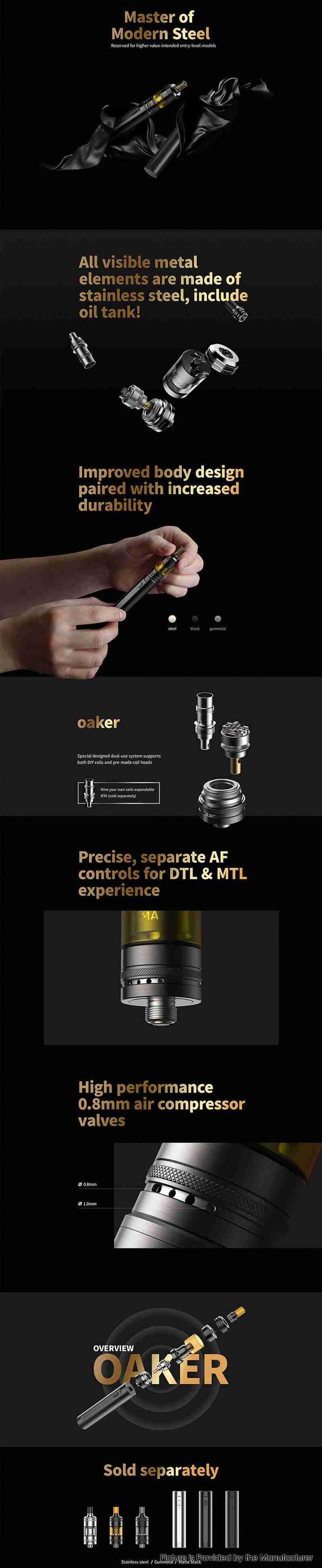 KIZOKU OAKER 25W Battery Mod + MTL Tank Starter Kit