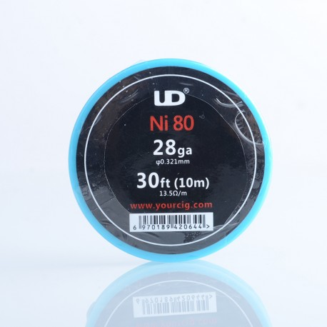 Authentic YouDe UD Nichrome Wire for RBA Vape Atomizer - 0.3mm / 28AWG, 30ft (10m)