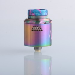 Authentic Vandy Vape Rath RDA Rebuildable Dripping Vape Atomizer - Rainbow, Single / Dual Coil Configuration, 24mm Diameter