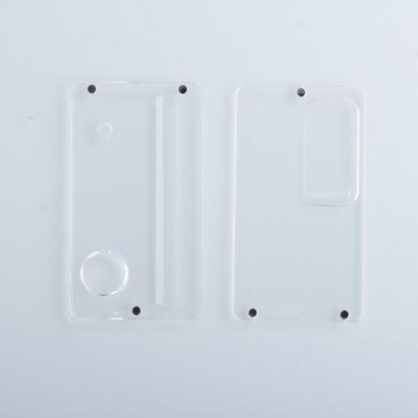 Authentic ETU Replacement Front + Back Door Panel Plates for dotMod dotAIO Vape Pod System - Clear, PC (2 PCS)