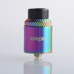 Authentic Digiflavor Drop V1.5 RDA Rebuilable Dripping Vape Atomizer w/ BF Pin - Rainbow, Dual Coil Configuration, 24mm Diameter