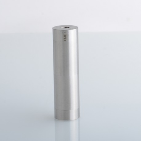 Atto Style Vape Mechanical Tube Mod - Silver, Stainless Steel, 1 x 18350 / 18650