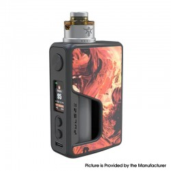Authentic Vandy Vape PR SE Squonk Mod Kit with Requiem RDA Atomizer - Lava Red, VW 5~95W, 1 x 16850, 20700, 21700
