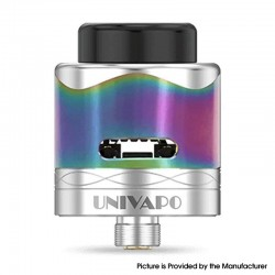 Authentic Univapo Symba RDA Rebuildable Dripping Vape Atomizer - Rainbow, Mesh Coil / Single coil / Dual coil /Triple Coil, 25mm