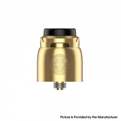 Authentic GeekVape Z RDA Rebuildable Dripping Vape Atomizer - Gold, BF Pin, Dual-Coil, 25mm