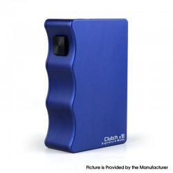 Authentic Mike Vapes & DOVPO & Signature Mods Clutch X18 Mechanical Vape Box Mod - Blue, 2 x 18650