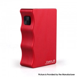 Authentic Mike Vapes & DOVPO & Signature Mods Clutch X18 Mechanical Vape Box Mod - Red, 2 x 18650