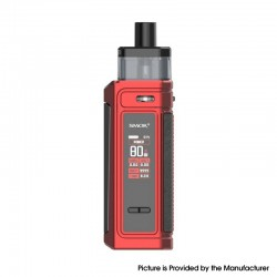 Authentic SMOKTech SMOK G-PRIV 80W Pod Mod Kit - Matte Red, VW 5~80W, 2500mAh, 5.5ml, 0.23ohm / 0.4ohm